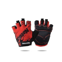 Перчатки Naturehike Outdoor Half Finger Cycling Gloves красный