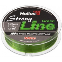 Леска Helios Strong Line Nylon Dark Green 0,20мм/100