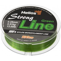 Леска Helios Strong Line Nylon Dark Green 0,28мм/100