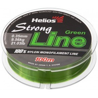 Леска Helios Strong Line Nylon Dark Green 0,35мм/100